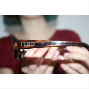 Vintage Fendi Brown Tortoise Sunglasses